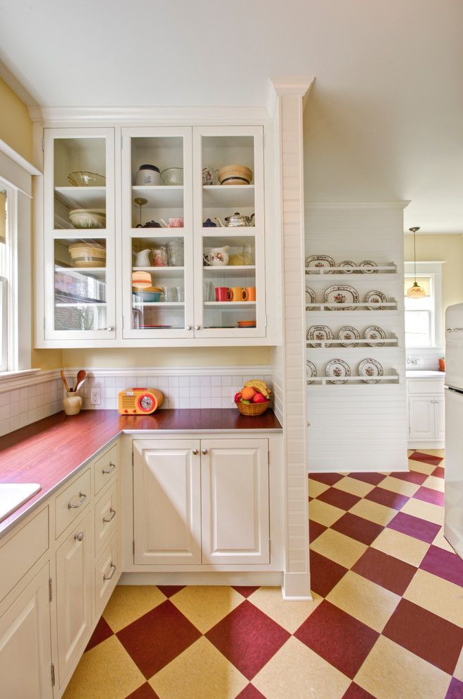 Forbo Flooring for a Traditional Kitchen with a Vingage and Retro Kitchen by Hammer & Hand