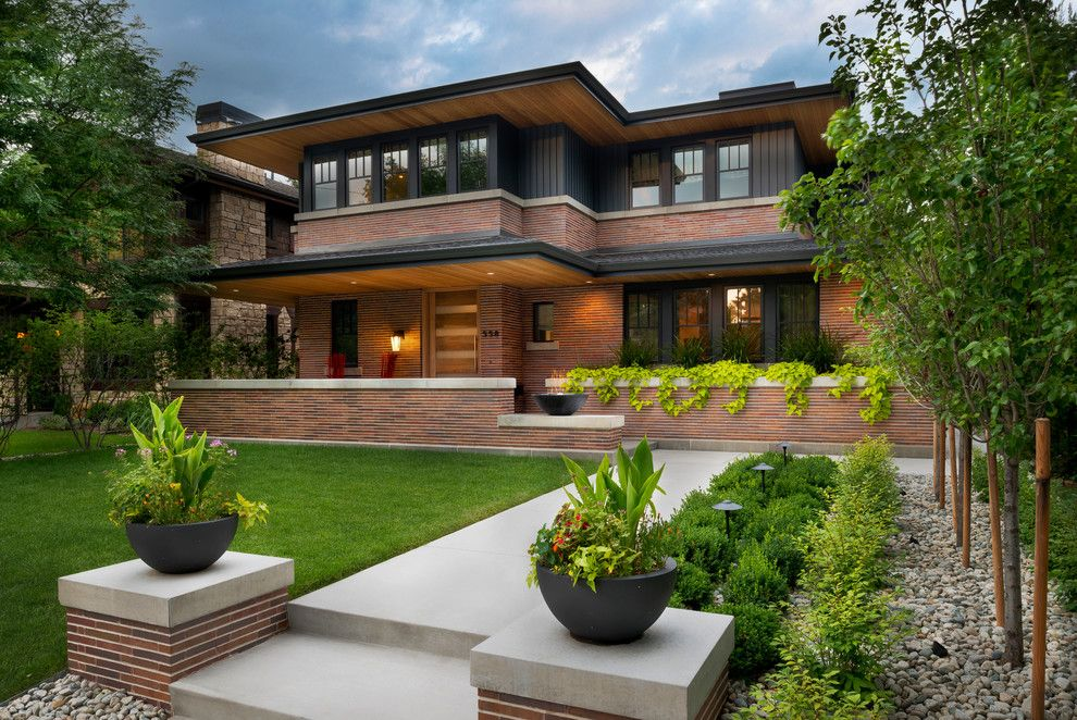 Frank Lloyd Wright Oak Park for a Craftsman Exterior with a Sleek and Wash Park Residence by Company Kd, Llc.