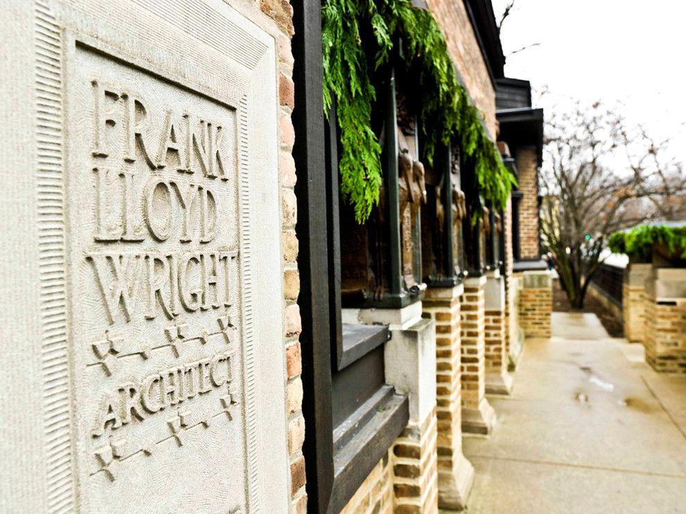 Frank Lloyd Wright Oak Park for a Traditional Exterior with a Frank Lloyd Wright and Frank Lloyd Wright Home & Studio by Cynthia Lynn Photography