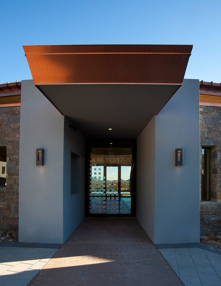 Frank Lloyd Wright Phoenix for a Contemporary Entry with a Paved Patio and Contemporary Residential by Phx Architecture