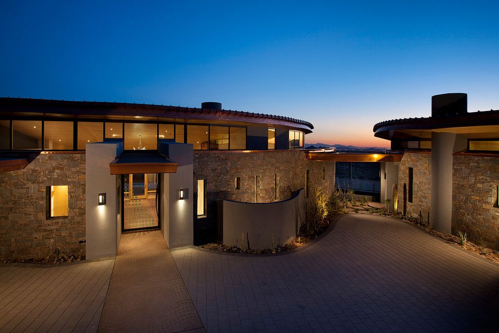 Frank Lloyd Wright Phoenix for a Contemporary Exterior with a Night Lighting and Contemporary Residential by Phx Architecture