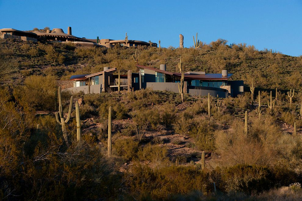 Frank Lloyd Wright Phoenix for a Contemporary Exterior with a Southwest and Contemporary Residential by Phx Architecture