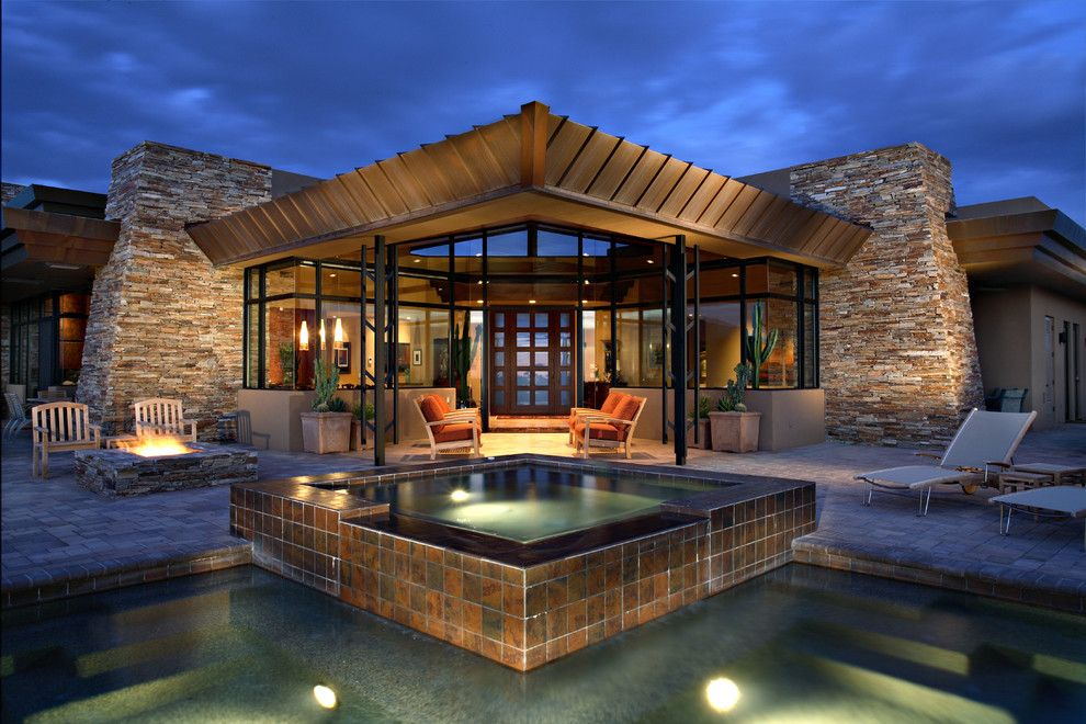 Frank Lloyd Wright Phoenix for a Contemporary Pool with a Contemporary and Contemporary Residential by Phx Architecture