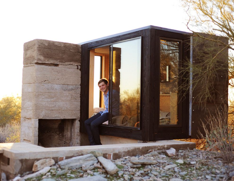 Frank Lloyd Wright Phoenix for a Contemporary Spaces with a Contemporary and the Miner's Shelter by Broken Arrow Workshop