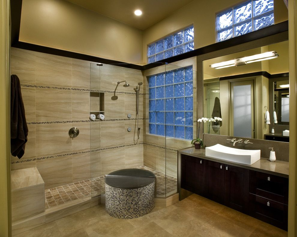 Frank Lloyd Wright Phoenix for a Modern Bathroom with a Contemporary Bathroom and Mi Master Bathroom by Beautiful Remodel