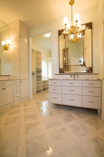 Furniture Mart Sioux Falls for a Traditional Bathroom with a Master Bath Suite and New Construction Home in East Sioux Falls, South Dakota by Today's Starmark Custom Cabinetry & Furniture