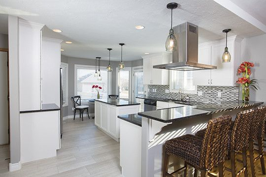 Furniture Mart Sioux Falls for a Transitional Kitchen with a Entertaining and Kitchen Remodel in East Sioux Falls, South Dakota by Today's Starmark Custom Cabinetry & Furniture
