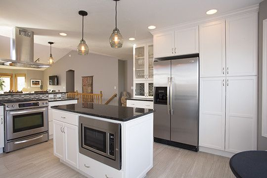 Furniture Mart Sioux Falls for a Transitional Kitchen with a White Kitchen and Kitchen Remodel in East Sioux Falls, South Dakota by Today's Starmark Custom Cabinetry & Furniture