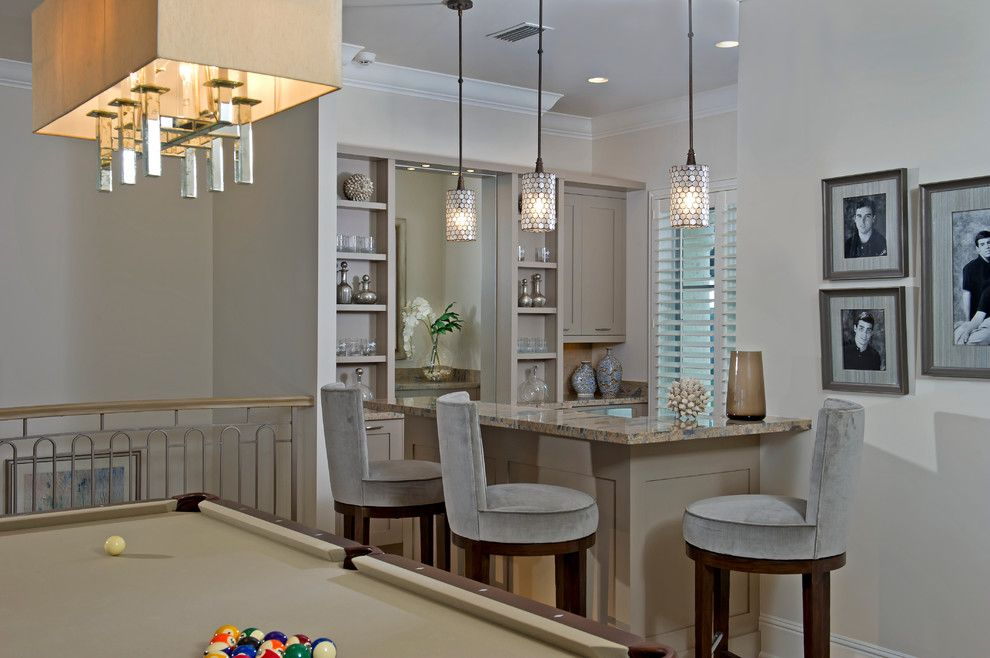 Golden West Billiards For A Beach Style Family Room With A Bar Seating And  Coastal Volusia