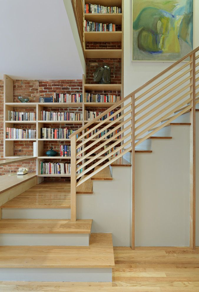Hanson Brick for a Eclectic Staircase with a Custom Stair and Park Slope Triplex by Nc2 Architecture Llc