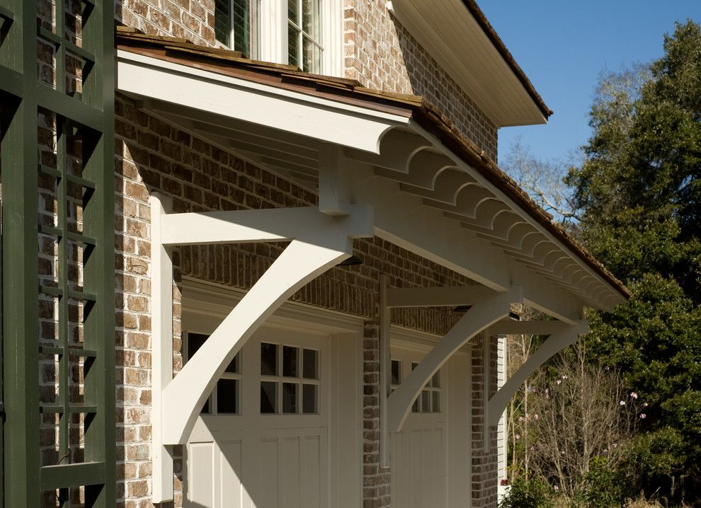 Hanson Brick for a Traditional Exterior with a Garage Doors and Details by Spivey Architects, Inc.