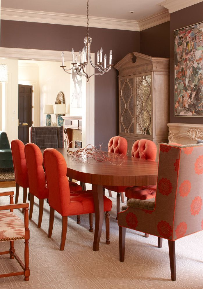 Harveys Furniture for a Contemporary Dining Room with a Button Back Chairs and California St. Remodel by Cardea Building Co.