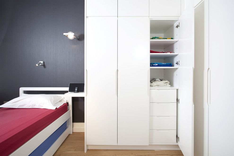 Harveys Furniture for a Contemporary Kids with a Funky Teen Bedroom and Wapping E1w: Stylish Wharf Flat by Increation