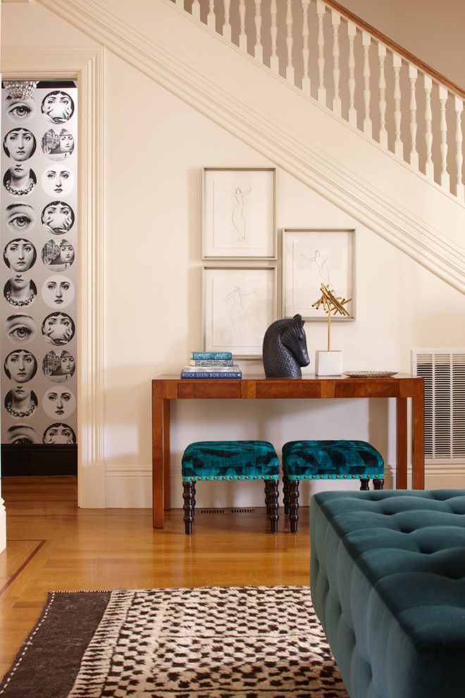Harveys Furniture for a Contemporary Staircase with a Turquoise Furniture and California St. Remodel by Cardea Building Co.