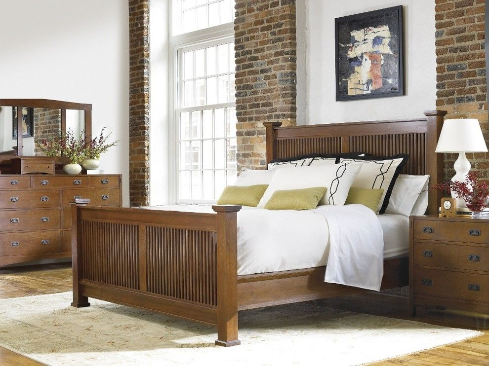 Harveys Furniture for a Craftsman Bedroom with a Arts Crafts and Arts & Crafts Bedrom by Stickley Furniture