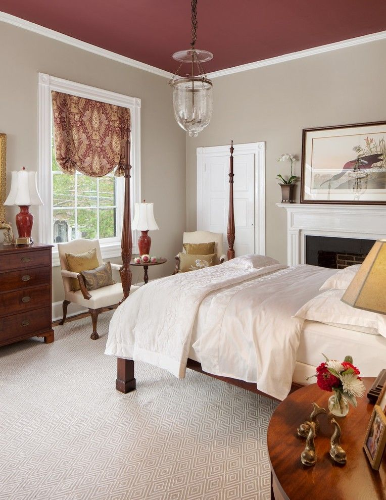 Helm Paint for a Traditional Bedroom with a Artwork and Classic Bedroom Design by Karen Helme by Daniel Jackson Photo
