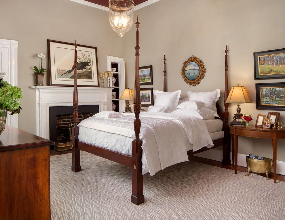 Helm Paint for a Traditional Bedroom with a Plein Air and Classic Bedroom Design by Karen Helme by Daniel Jackson Photo