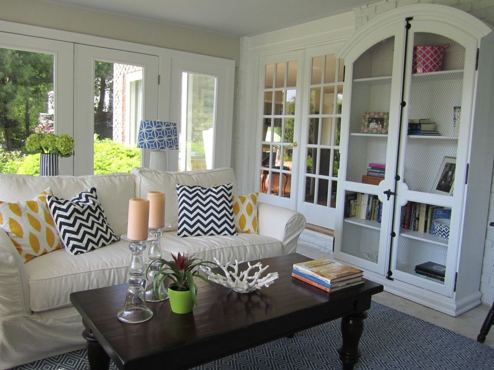 Helm Paint for a Traditional Porch with a Preppy and Sunroom by a Perfect Placement