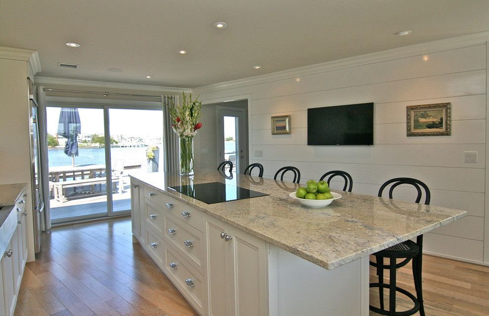 Helm Paint for a Transitional Kitchen with a Shorehouse and Helm by Robert Jennings Design Llc