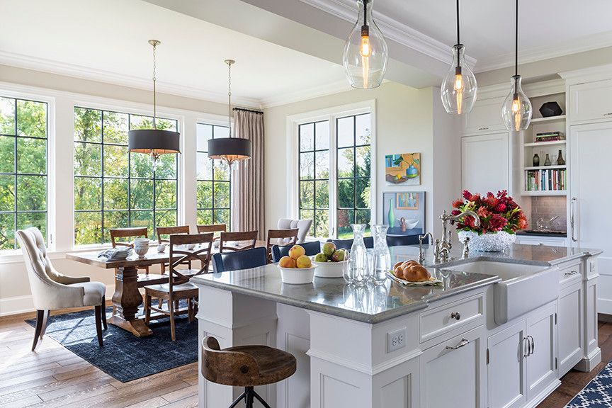 Home Depot Eden Prairie for a Transitional Kitchen with a Relaxed and Metropolitan Countryside by Hendel Homes
