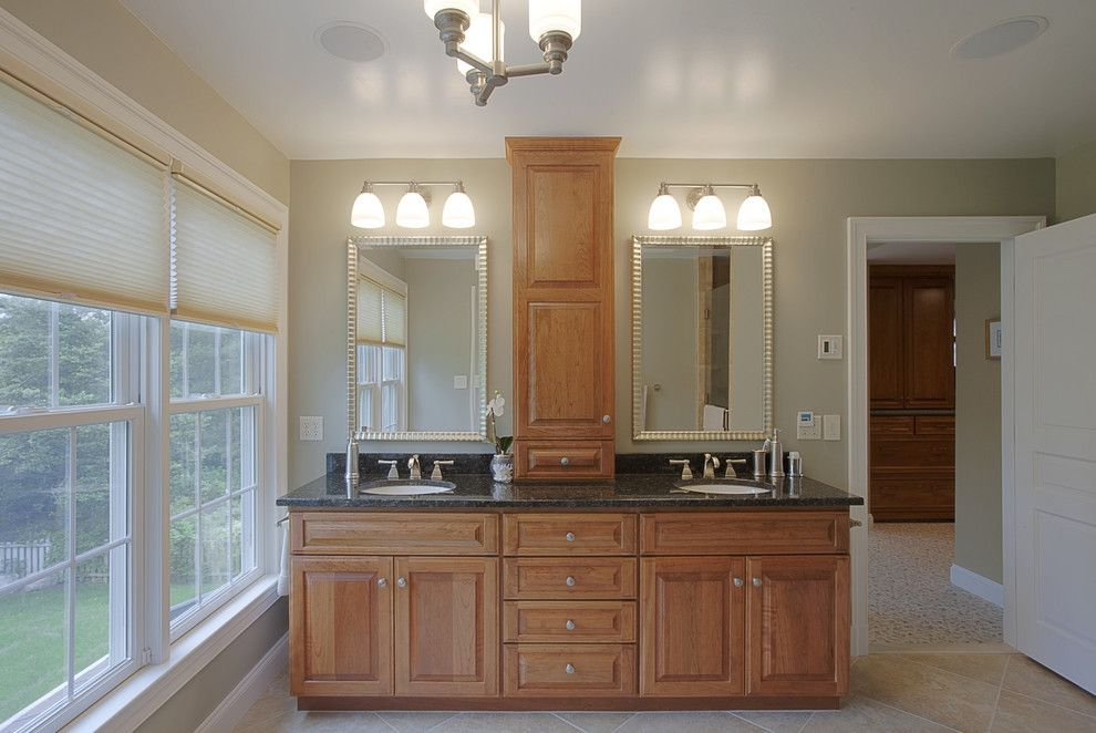 Home Depot Laurel Md for a Traditional Bathroom with a Drawer Pulls and Case Design/remodeling, Inc. by Case Design/remodeling, Inc.