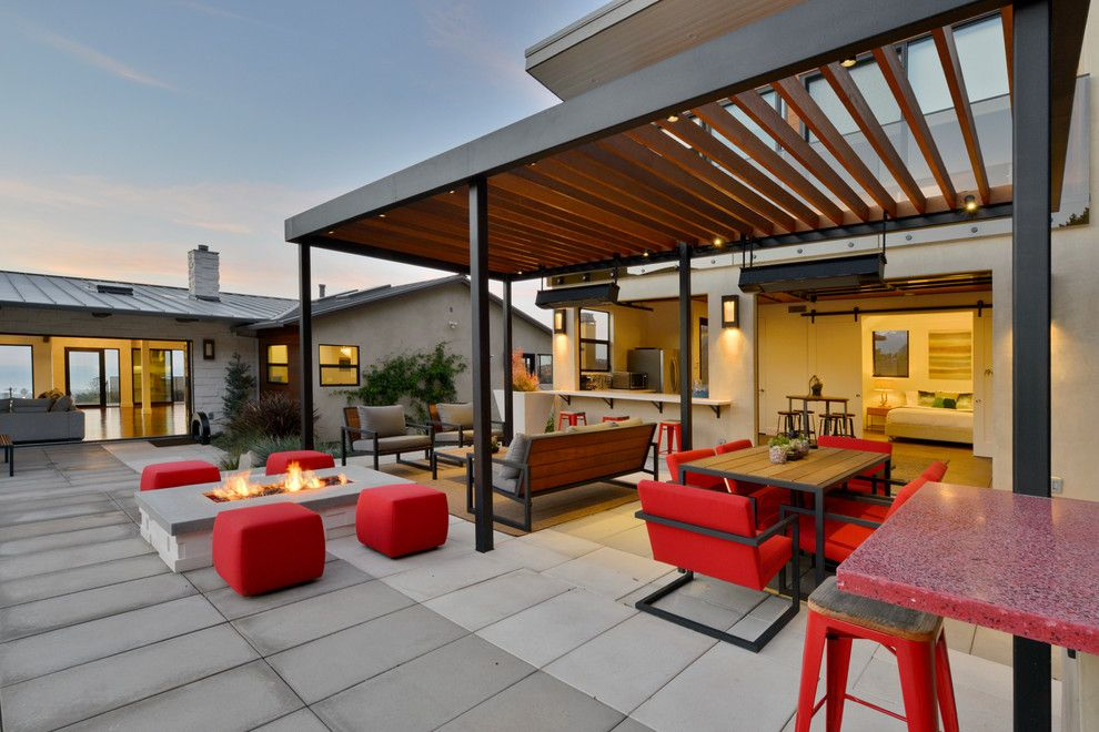 How to Build a Paver Patio for a Contemporary Patio with a Outdoor Dining and Muirlands Modern by Hauck Architecture