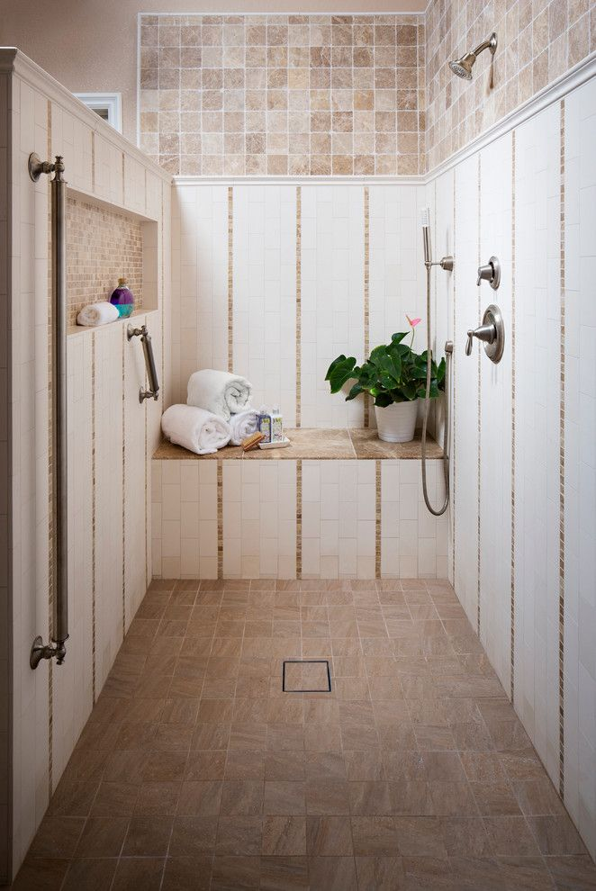 How to Unclog a Shower Drain for a Traditional Bathroom with a Hand Shower and Turnberry Drive by Tracy Lynn Studio