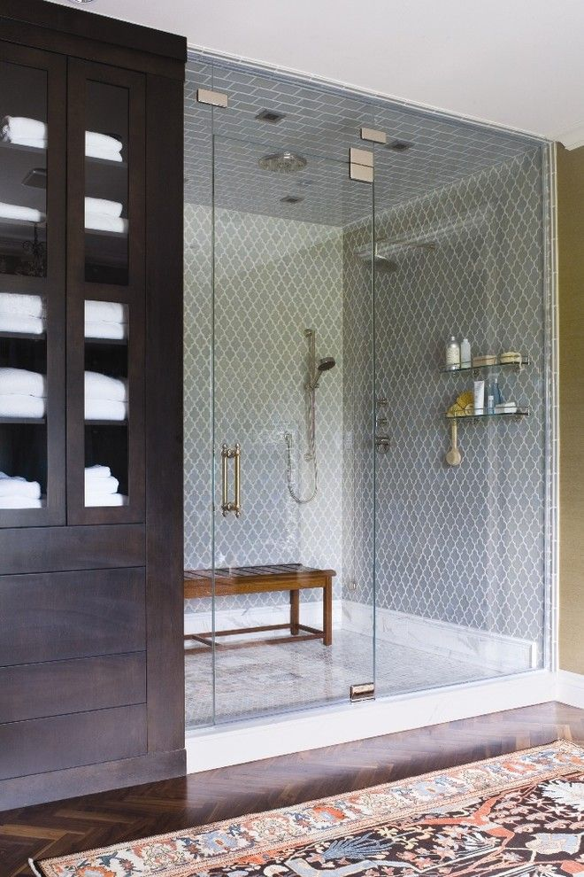 How to Unclog a Shower Drain for a Traditional Bathroom with a Wardrobe and Home of the Year by Andrea Schumacher Interiors