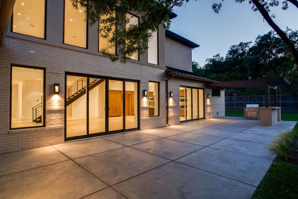 Icf homes for a modern patio with a dallas contemporary for Icf home