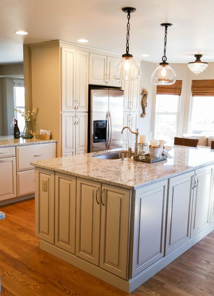 Jk Cabinets for a Transitional Spaces with a White Countertop and Kitchen Transformation2 by Jk Cabinets & Design