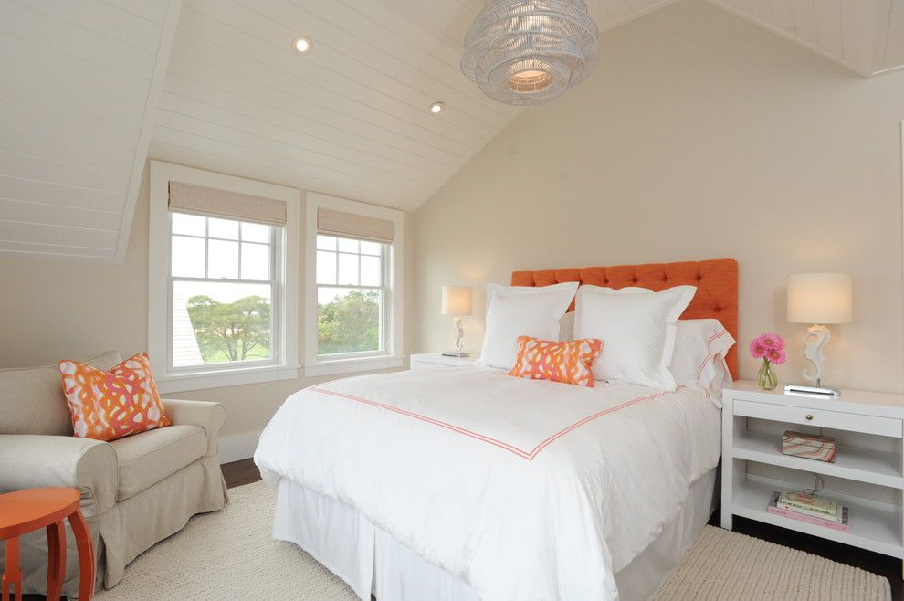Jonathan Adler Planner for a Beach Style Bedroom with a Coastal and Sconset by Nina Liddle Design
