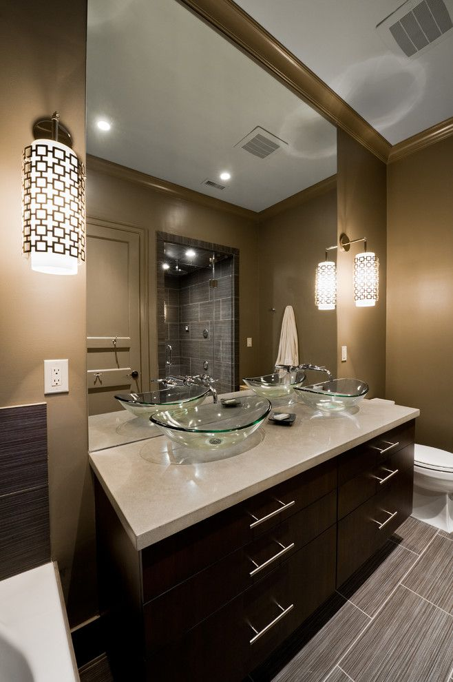 Jonathan Adler Planner for a Contemporary Bathroom with a Steam and Master Bathroom:  Modern by Design by Andrew Roby General Contractors