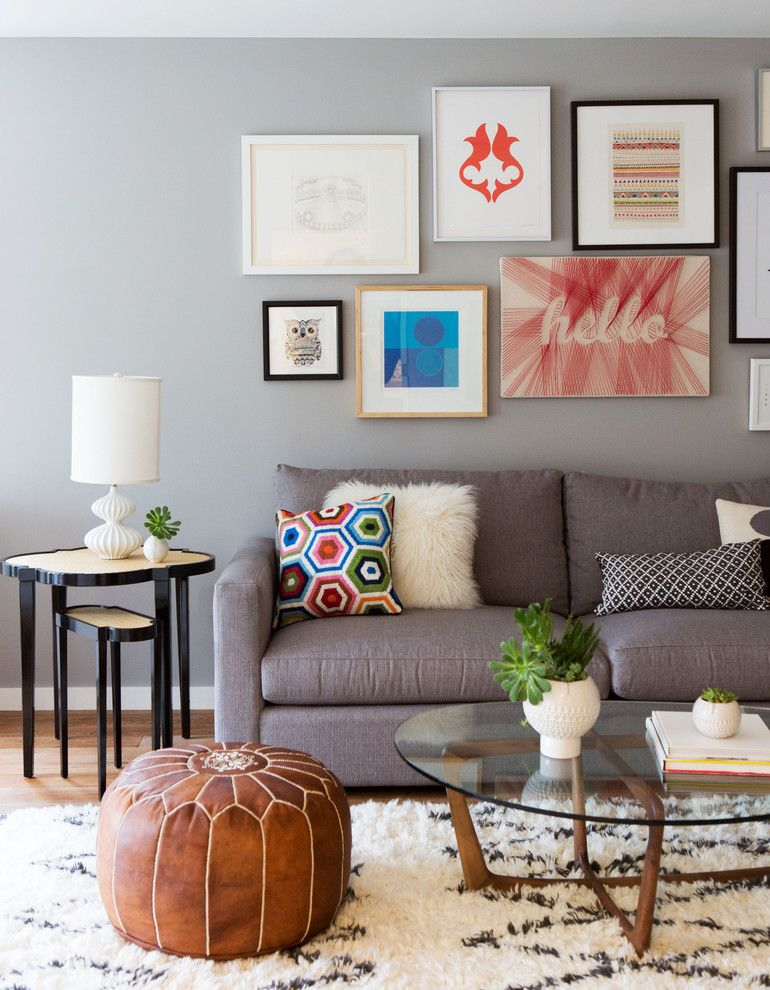 Jonathan Adler Planner for a Contemporary Living Room with a Area Rug and San Francisco Den by Neila Hutt Interior Design