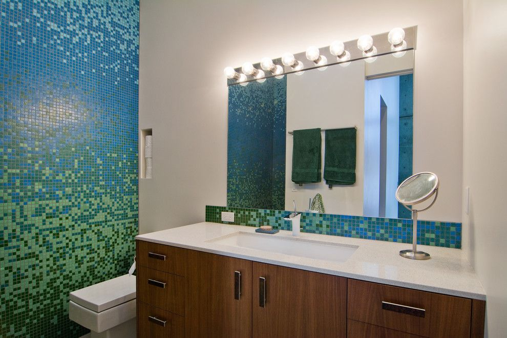 Kayenta Utah for a Contemporary Bathroom with a Wood Bathroom Vanity and My Houzz: The Thorns by Lucy Call