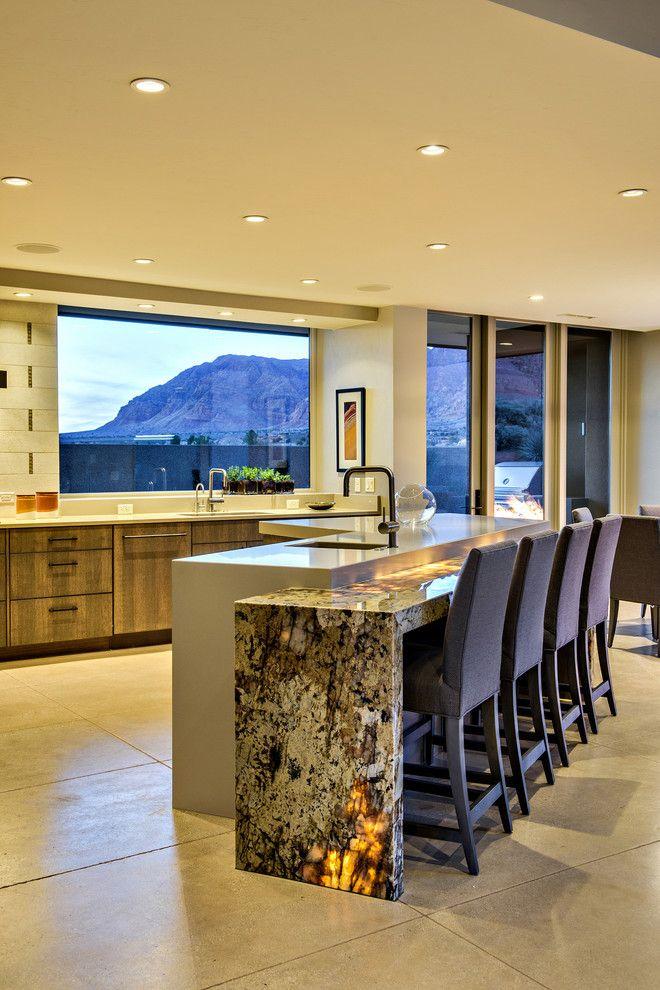 Kayenta Utah for a Modern Kitchen with a Modern and Desert Illumination by Gulch Design Group   Kayenta Utah