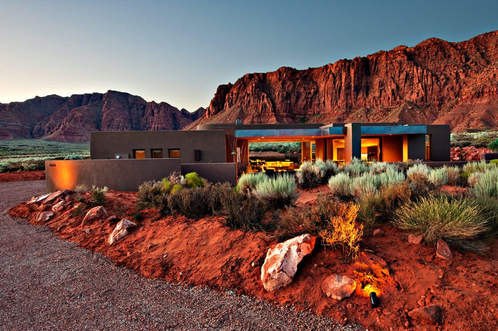 Kayenta Utah for a Southwestern Exterior with a Southwestern and Desert Zen by Gulch Design Group   Kayenta Utah