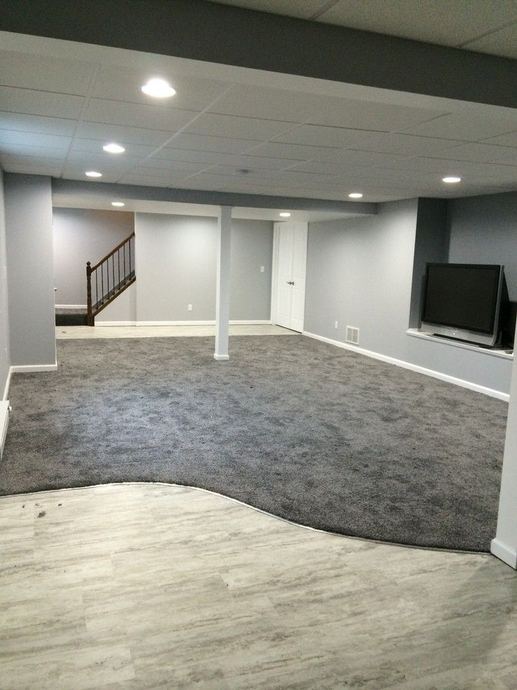 Kenny Carpets for a Contemporary Basement with a Flooring and Basement Remodel by Kenny Carpets & Floors
