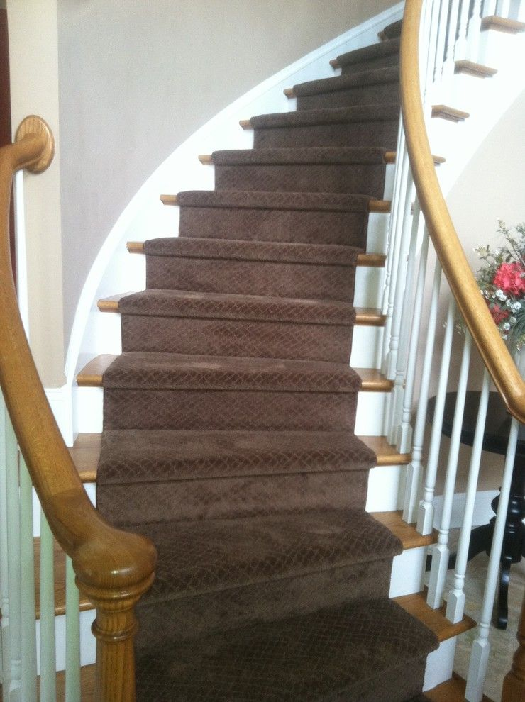 Kenny Carpets for a Traditional Staircase with a Carpet and Wrapped Setps by Kenny Carpets & Floors