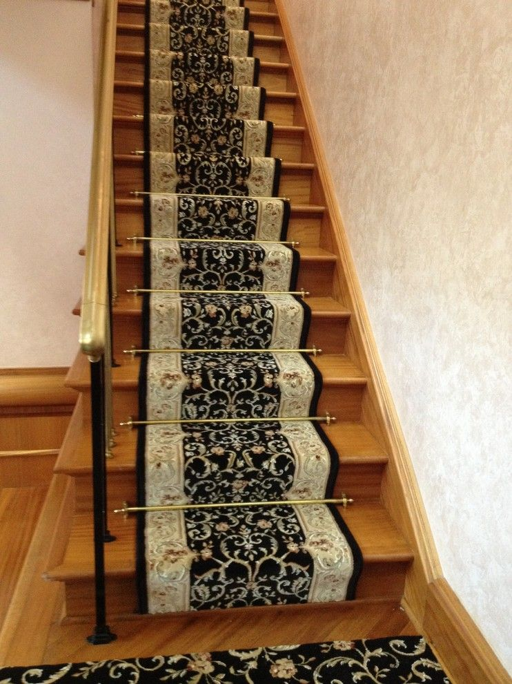 Kenny Carpets for a Traditional Staircase with a Stair Carpet and Wrapped Setps by Kenny Carpets & Floors