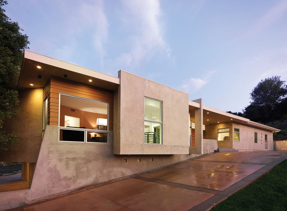 Klinker Brick for a Modern Exterior with a Geometric and via Verde Residence by Hartmanbaldwin Design/build