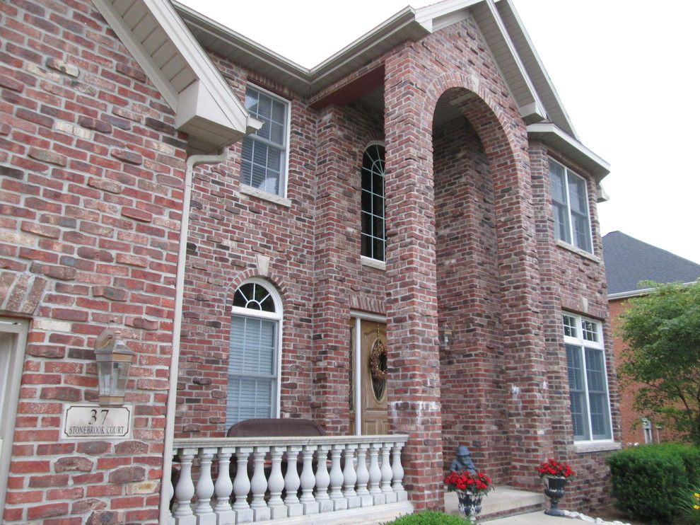 Klinker Brick for a Traditional Exterior with a Stone and Brick Klinker and Exterior Pictures by Long Custom Homes Building and Remodeling