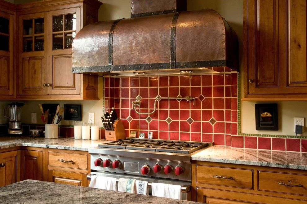 Lakeside Appliance for a Rustic Kitchen with a Gray Countertop and New Hampshire Lakeside by Beyond the Garden