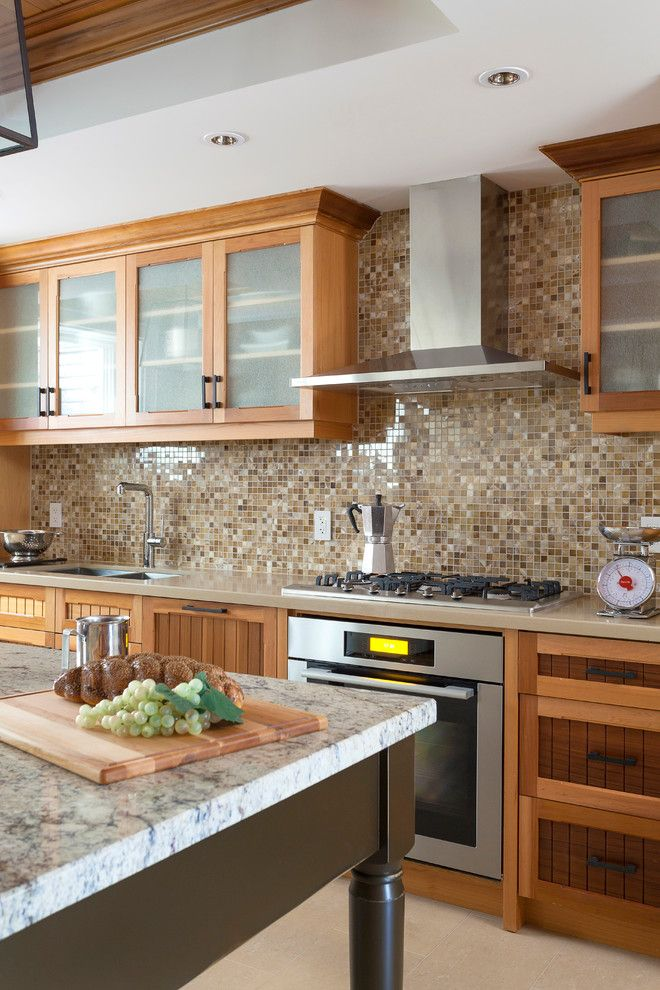 Lakeside Appliance for a Traditional Kitchen with a Beige Countertop and Oakville Lakeside Residence by Principles Design Studio, Inc.