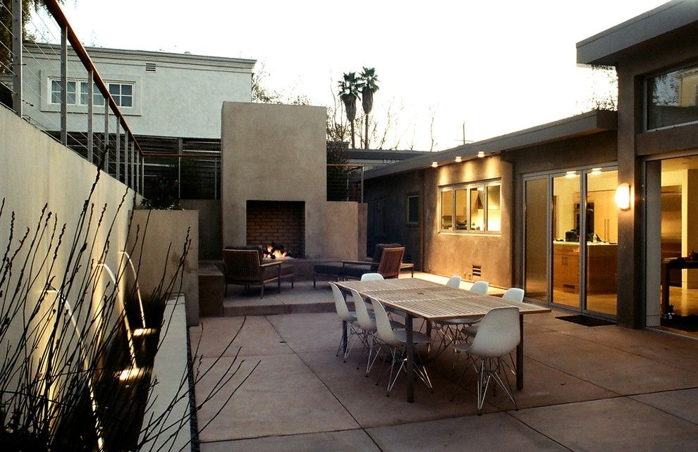 Lazar Furniture for a Modern Patio with a Modern Icons and Piedmont Modern Garden by Lazar Landscape Design and Construction