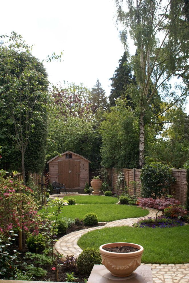 Lennox Parts Plus for a Rustic Landscape with a Trees and Circular Garden by Green Tree Garden Design Ltd
