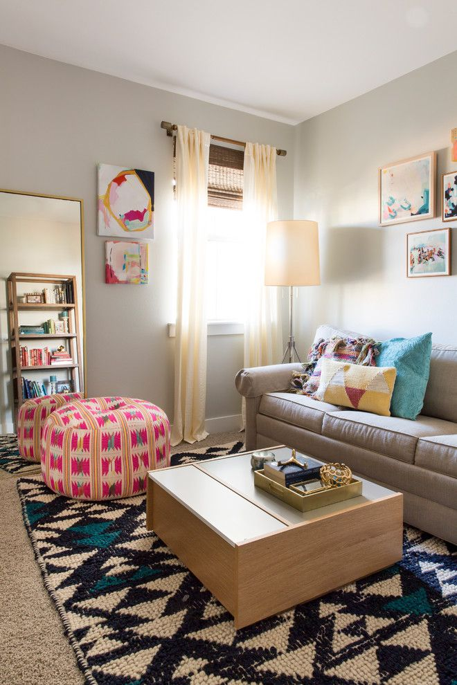 Loloi for a Transitional Spaces with a Geometric Throw Pillows and a Fun & Functional Abode by Maureen Stevens