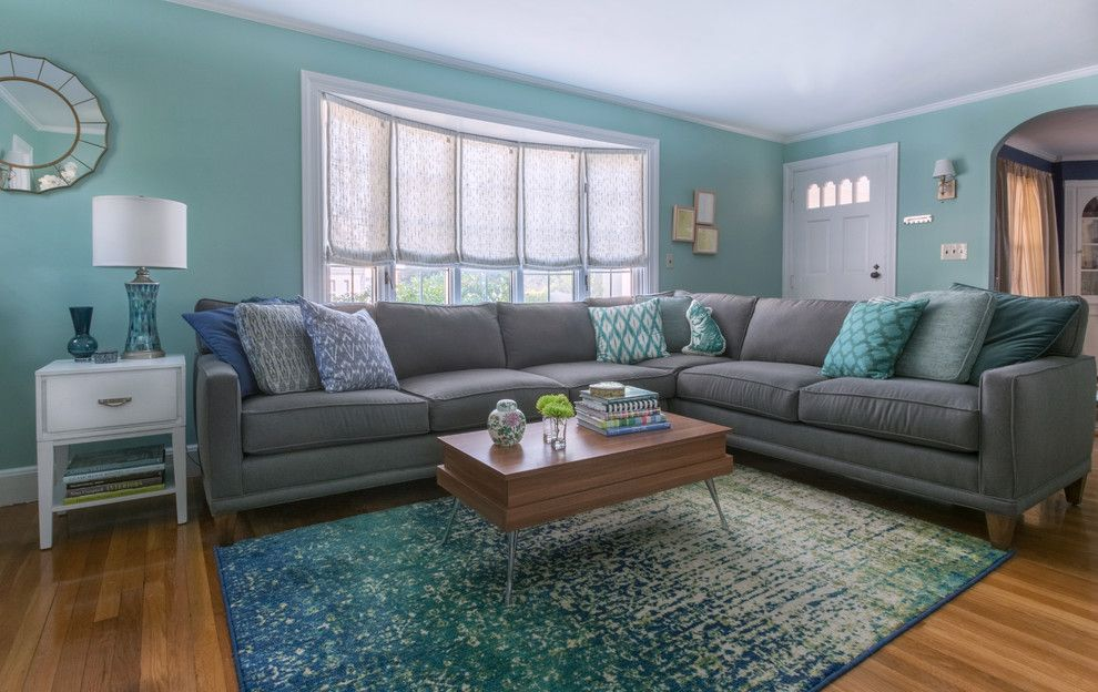 Loloi for a Transitional Spaces with a Transitional and Wakefield Living Room by Robertson Design & Photography
