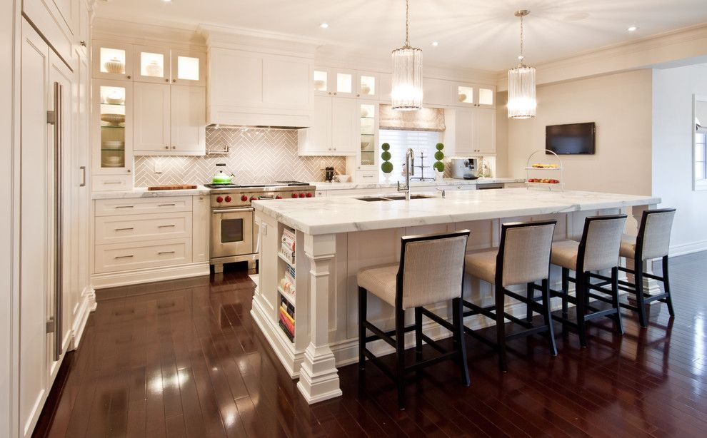 Long Island Paneling for a Transitional Kitchen with a Shirley Meisels and Kitchen by Shirley Meisels