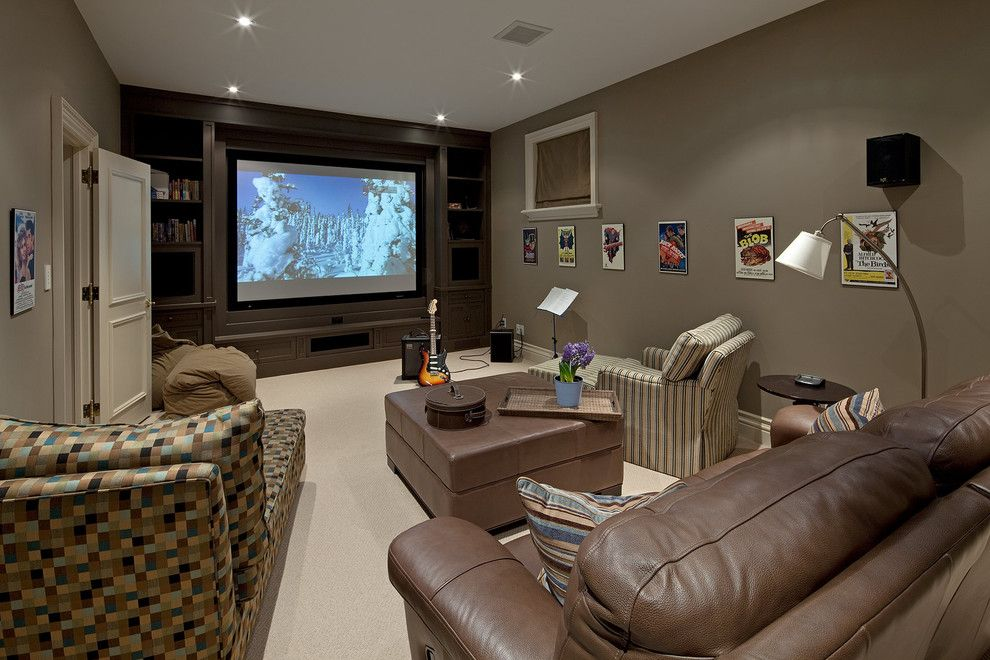 Los Banos Theater for a Traditional Home Theater with a Beige Bean Bags and House 6 by Peter A. Sellar   Architectural Photographer