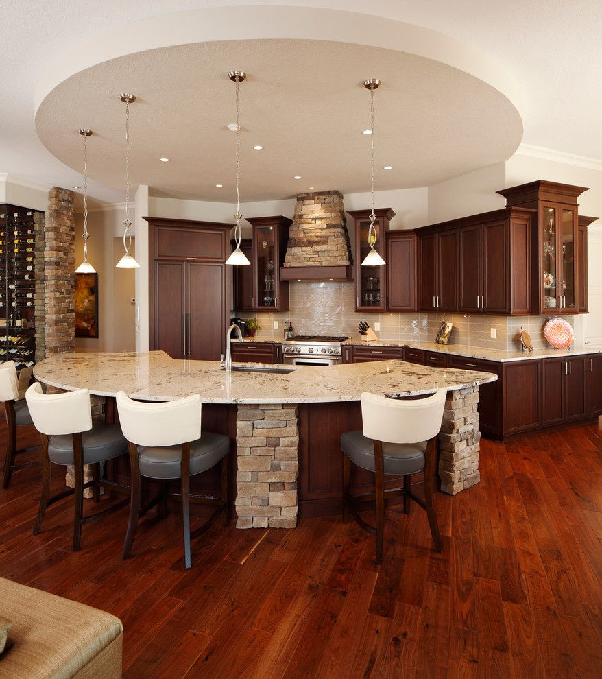 Lowes Brandon Fl for a Transitional Kitchen with a Leather Counter Stool and Kitchens by Christopher Burton Homes, Inc.